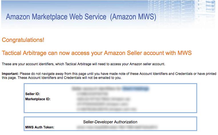 Tactical Arbitrage Seller ID